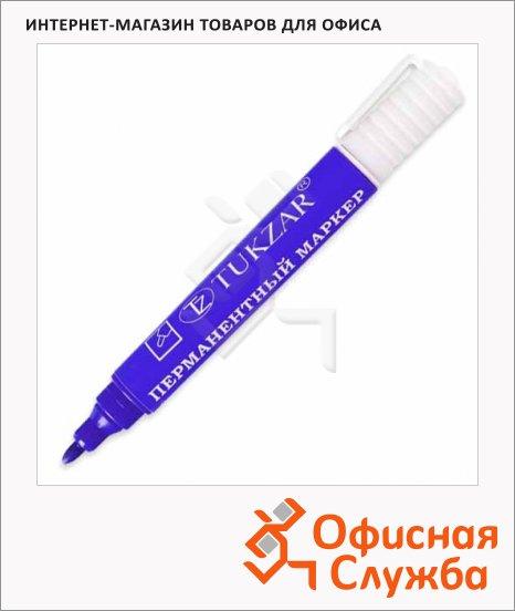 Маркер перманентный Tukzar 420 синий, 2мм, овальный наконечник