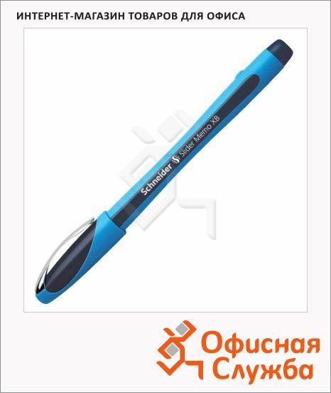фото: Ручка шариковая Schneider Slider Memo XB черная 0.8мм