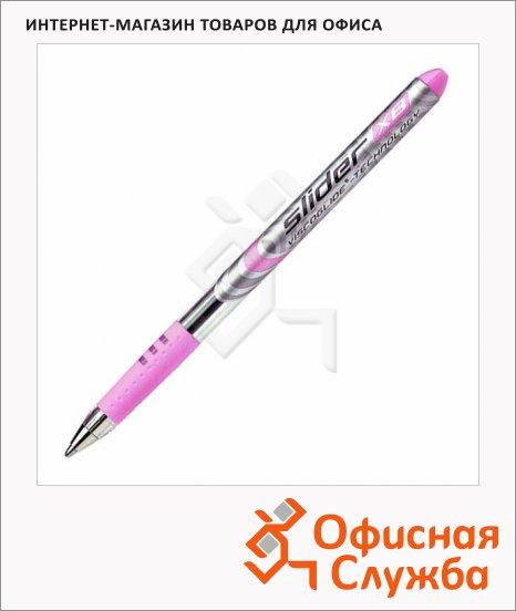 Ручка шариковая Schneider XB красная, 0.9мм, розовый корпус