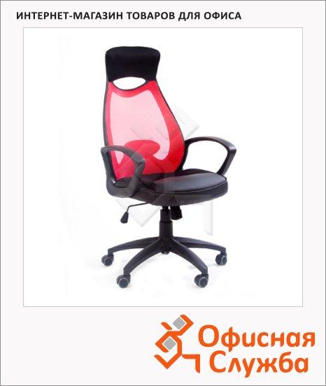 фото: Кресло руководителя Chairman 840 ткань красная