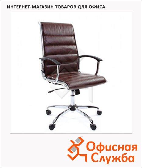 Кресло руководителя Chairman 760 иск. кожа, крестовина хром, коричневая
