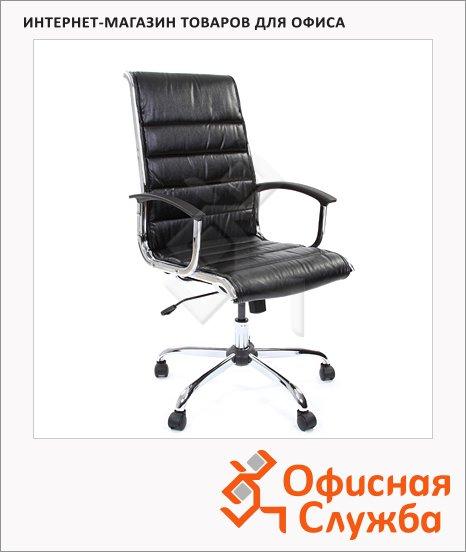 Кресло руководителя Chairman 760 иск. кожа, крестовина хром, черная