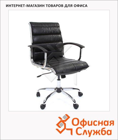 Кресло руководителя Chairman 760-M иск. кожа, крестовина хром, низкая спинка, черная
