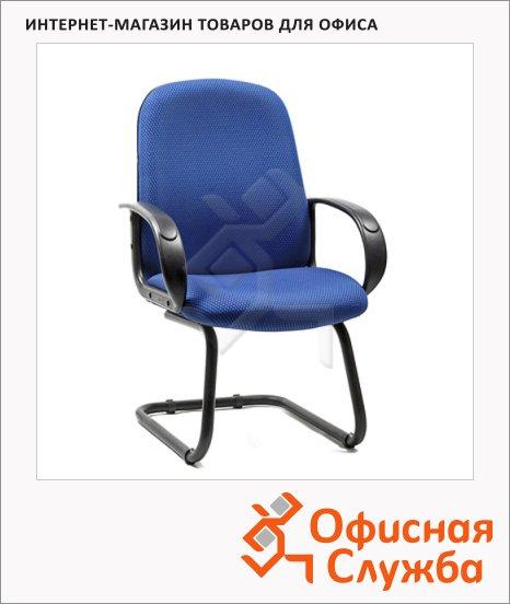 Кресло посетителя Chairman 279 V ткань, JP, на полозьях, синяя, темная