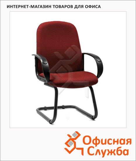 Кресло посетителя Chairman 279 V ткань, бордовая, TW, на полозьях