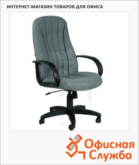 фото: Кресло руководителя Chairman ткань серая, крестовина пластик