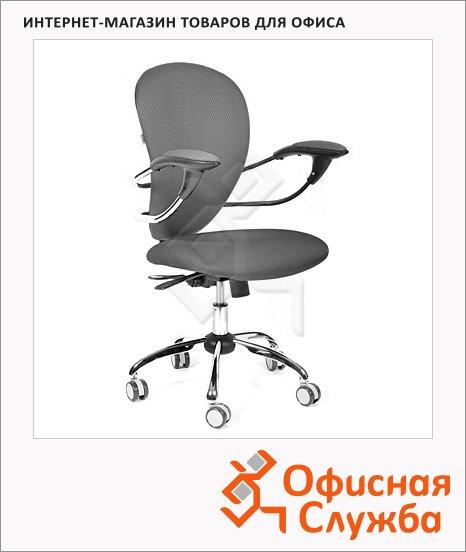 Кресло офисное Chairman 686 ткань, крестовина хром, серая, JP