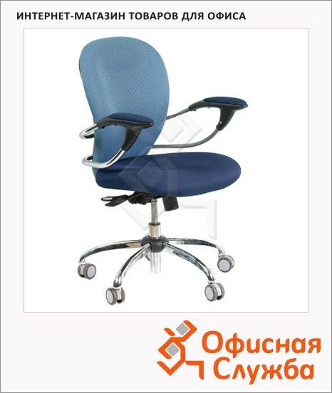 фото: Кресло офисное 686 ткань JP, крестовина хром, синяя, JP