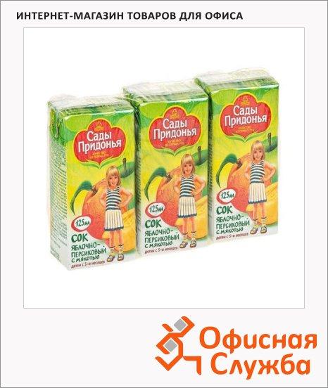 Сок Сады Придонья яблоко/персик, 0.2л х 3шт