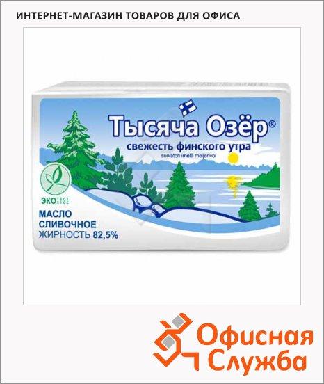 Масло сливочное Тысяча Озер 82.5%, несоленое, 450г