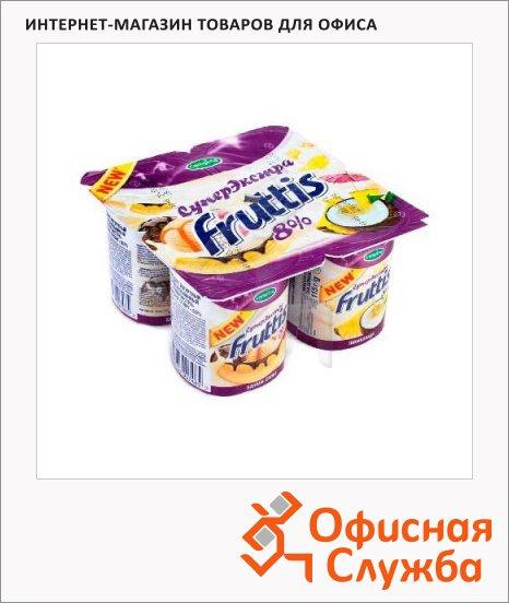 Йогурт Fruttis Суперэкстра банана-сплит/пина колада, 8%, 115г