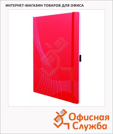 Блокнот Avery Zweckform Notizio 7043, А4, 80 листов, в клетку, пластик, красный, 297 x 212мм