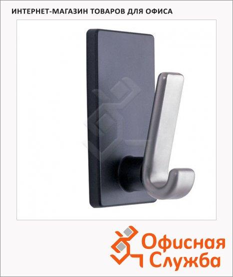 Крючок магнитный Magnetoplan черно-серебряный матовый, 15кг, 64х120х60 мм