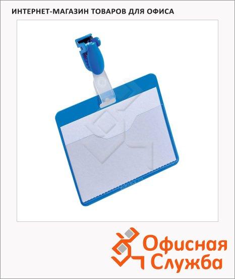 Бейдж на зажиме Durable 90х60мм, синий, 25 шт/уп, 8106-06