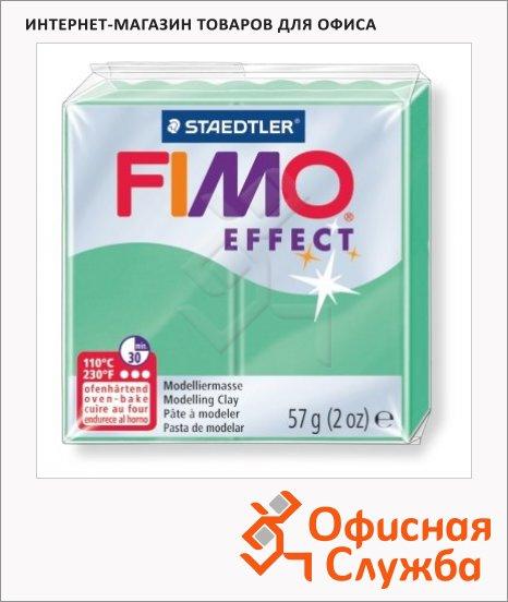 фото: Полимерная глина Fimo Effect зеленый нефрит 57г