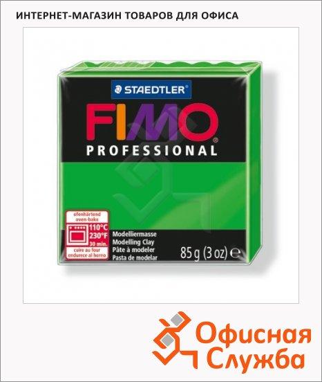 фото: Полимерная глина Fimo Professional ярко-зеленая 85г