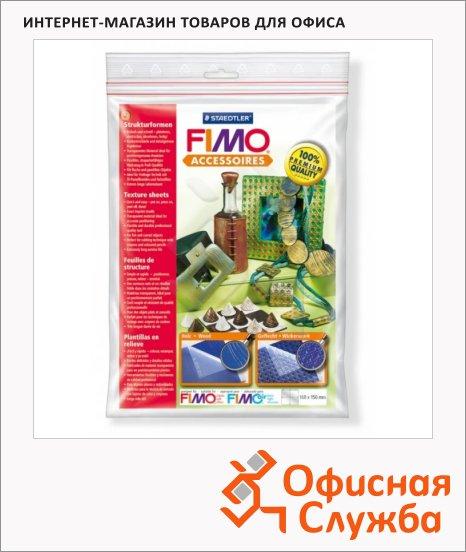 Текстурные листы для полимерной глины Fimo Фактура дерева/Плетение, 168х150мм, 2шт