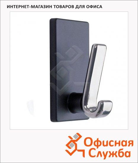 Крючок магнитный Magnetoplan черно-серебряный полированный, 15кг, 64х120х60 мм