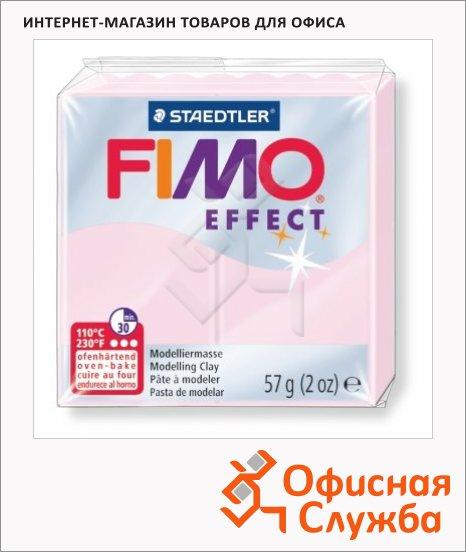 фото: Полимерная глина Fimo Effect розовый кварц 57г