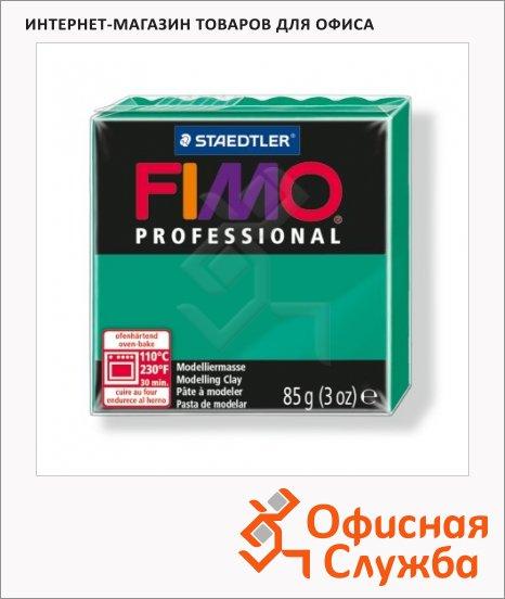 Полимерная глина Fimo Professional чисто-зеленая, 85г