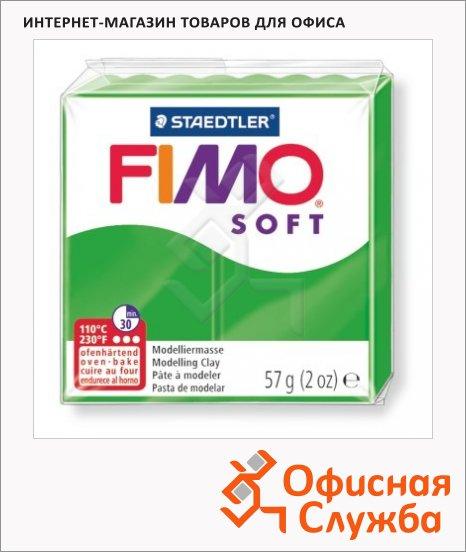 фото: Полимерная глина Fimo Soft тропический зеленый 57г