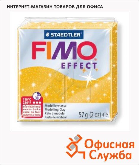 фото: Полимерная глина Fimo Effect золотой блеск 57г