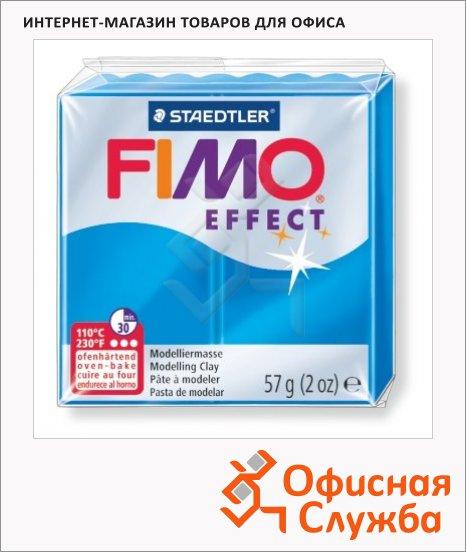 фото: Полимерная глина Fimo Effect полупрозрачная синяя 57г