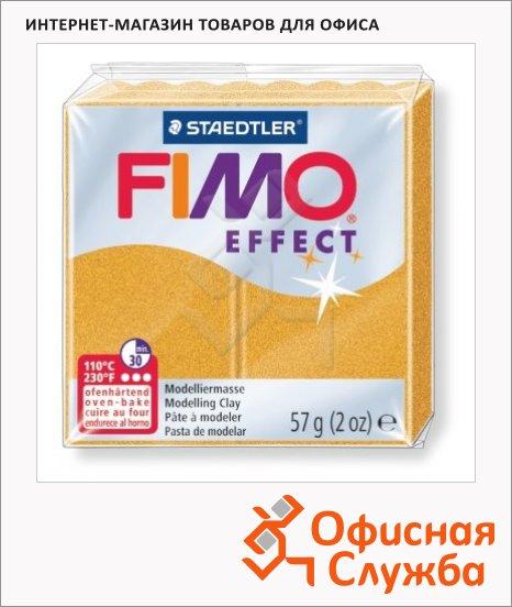 фото: Полимерная глина Fimo Effect золотая металлик 57г
