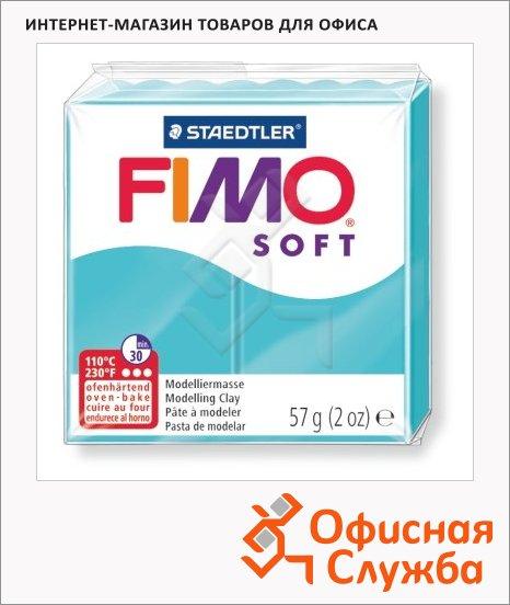 фото: Полимерная глина Fimo Soft мятная 57г