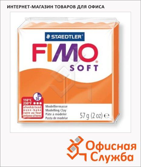 фото: Полимерная глина Fimo Soft мандариновая 57г