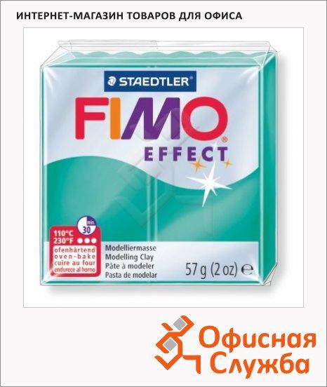 фото: Полимерная глина Fimo Effect зеленая полупрозрачная 57г