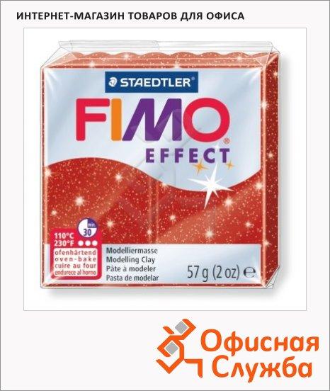 фото: Полимерная глина Fimo Effect красная металлик 57г