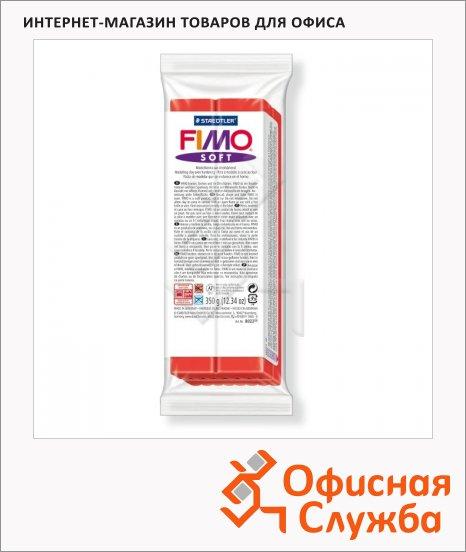 фото: Полимерная глина Fimo Soft индийский  красный 350г