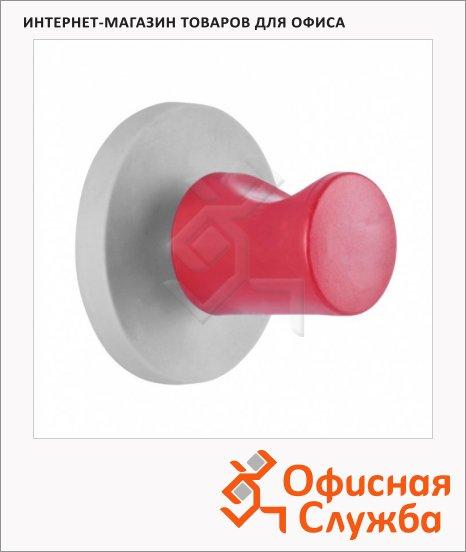 Крючок магнитный Magnetoplan d=48 мм, до 15кг, бело-красный