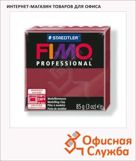 фото: Полимерная глина Fimo Professional бордовая 85г