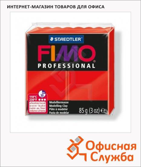 Полимерная глина Fimo Professional чисто-красная, 85г