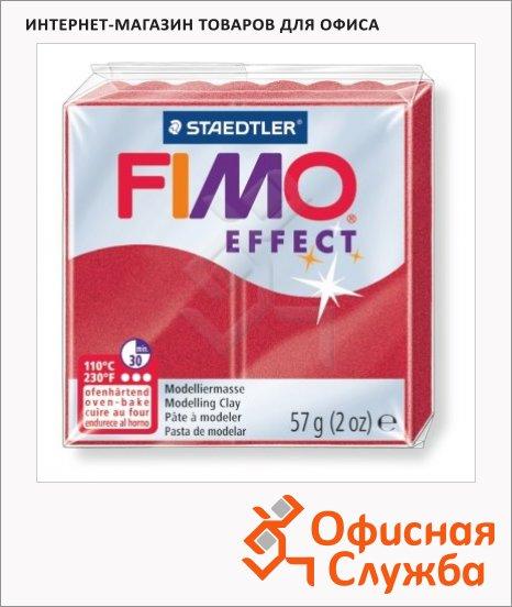 фото: Полимерная глина Fimo Effect рубиновая 57г