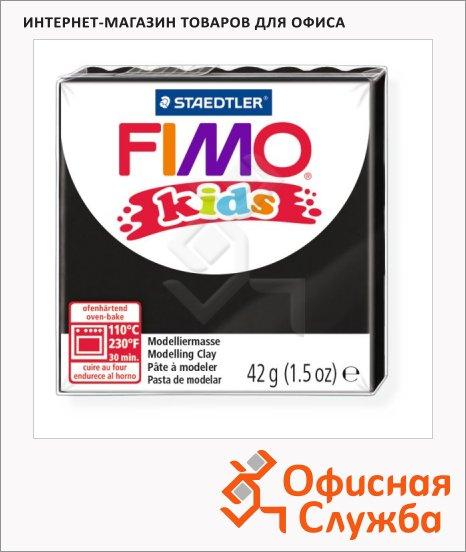 фото: Полимерная глина Fimo Kids черная 42г
