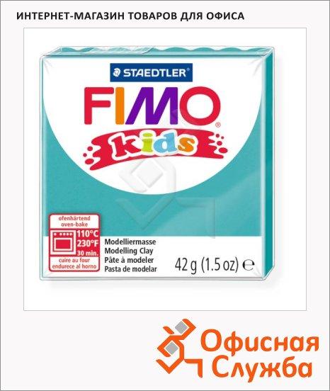 фото: Полимерная глина Fimo Kids бирюзовая 42г