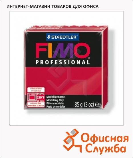 фото: Полимерная глина Fimo Professional пунцовая 85г