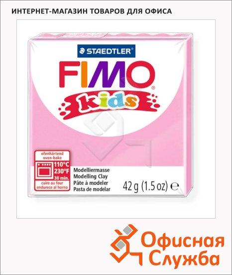 фото: Полимерная глина Fimo Kids розовая 42г