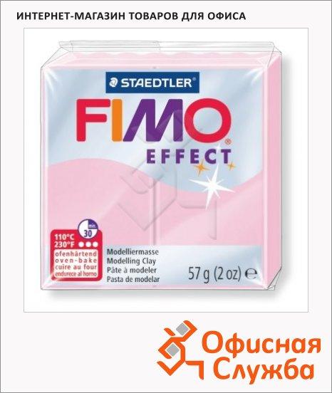 фото: Полимерная глина Fimo Effect розовая пастель 57г