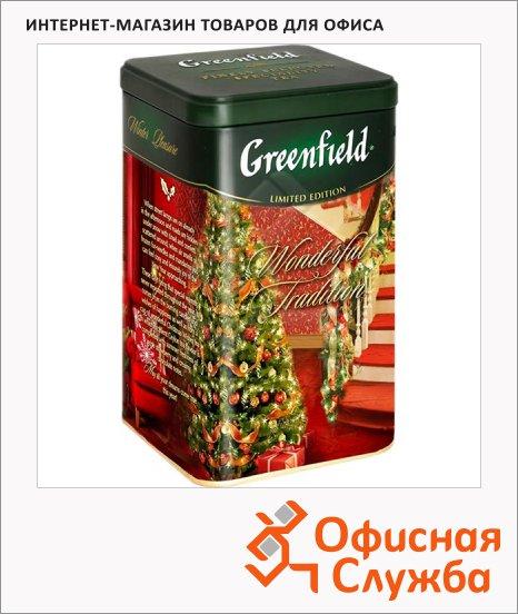 фото: Чай Greenfield черный листовой 150г в жестяной банке, Вандерфул Традишн<br>150г