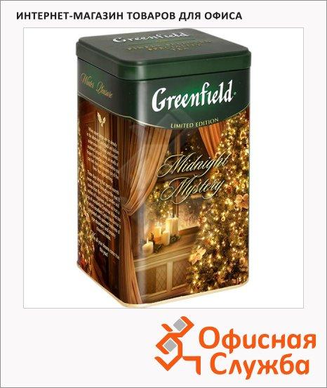 Чай Greenfield Midnight Mystery (Миднайт Мистери), черный, листовой, ж/б, 150 г
