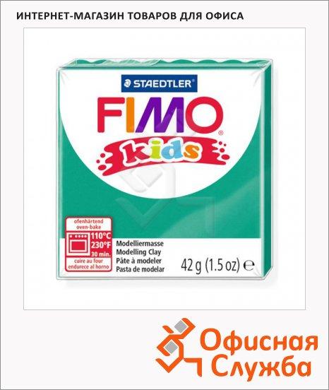 Полимерная глина Fimo Kids зеленая, 42г