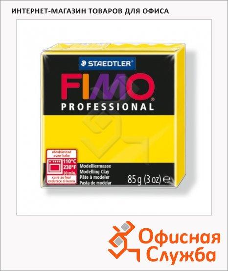 фото: Полимерная глина Fimo Professional желтая 85г