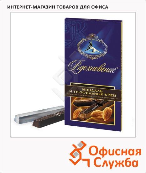 Шоколад Вдохновение темный трюфельный с миндалем, 100г
