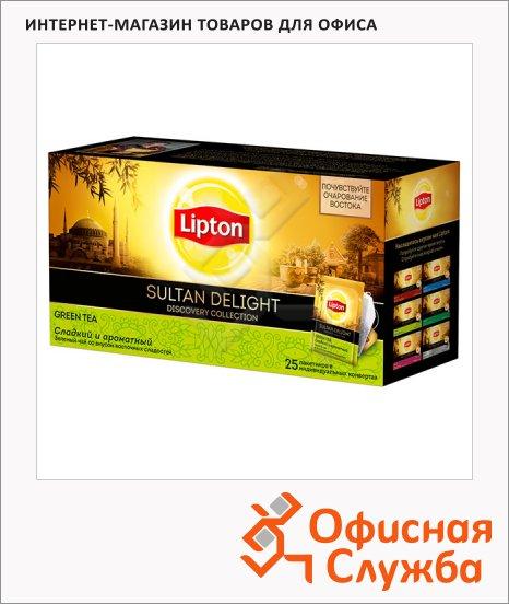 фото: Чай Lipton Discovery Collection Sultan Delight зеленый, 25 пакетиков