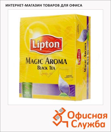 фото: Чай Lipton Magic Aroma черный, 100 пакетиков