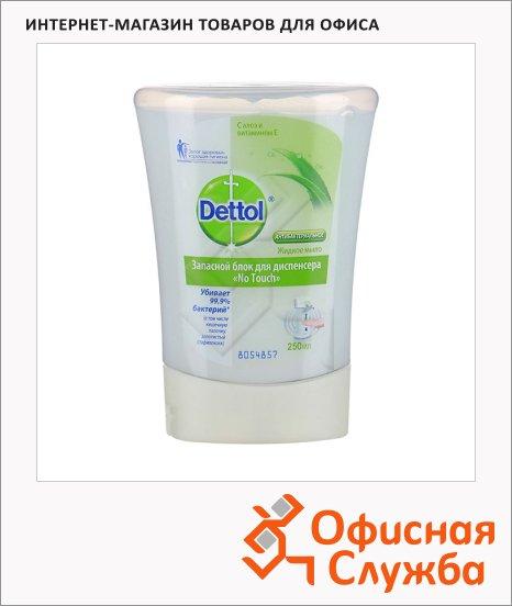Жидкое мыло наливное Dettol 250мл, алоэ, витамин Е, антибактериальное, запасной блок